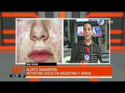 Alerta por sarampión ante casos registrados en Argentina y Brasil