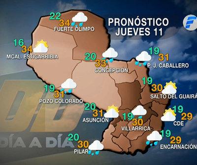 Leve aumento de la probabilidad de lluvias