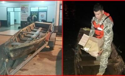 Abandonan canoa con marihuana en orillas del Paraná