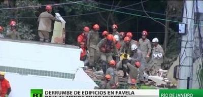 Derrumbe de dos edificios en Brasil deja varios muertos y heridos