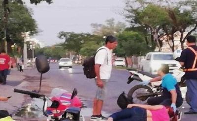 Atropellan a una mujer sobre Aviadores del Chaco