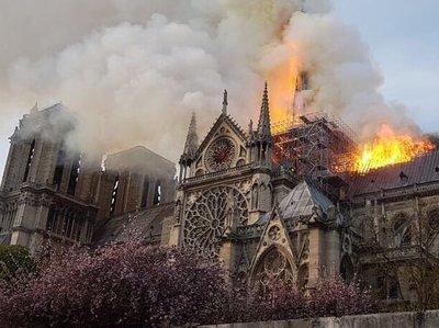 Se incendia catedral de Notre Dame