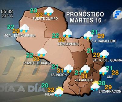 Lluvias persistirán para hoy martes