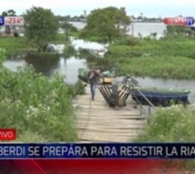 Alberdeños optimistas ante incesante avance del río