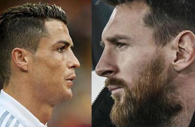 La polémica imagen de Messi y Cristiano besándose
