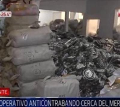 Allanan vivienda repleta de supuestos productos de contrabando