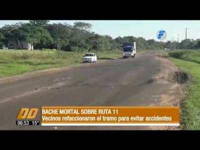 Bache mortal sobre ruta 11