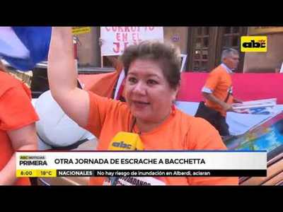 Otra jornada de escrache a Bacchetta