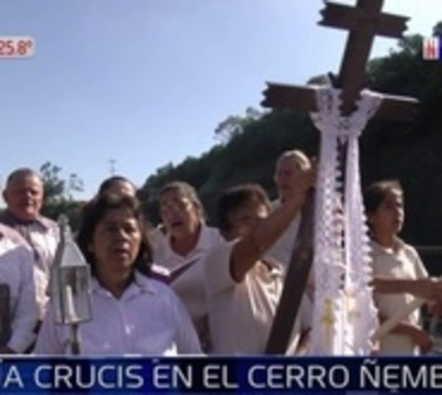 Cerro Ñemby aguarda 40.000 personas para su espectacular vía crucis
