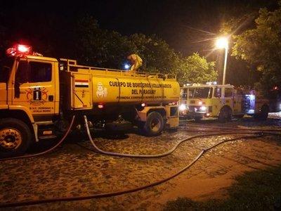 Incendio en vivienda de barrio Herrera