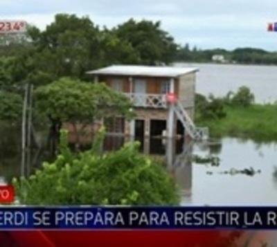 Río en Alberdi llegó a la cota de desastre