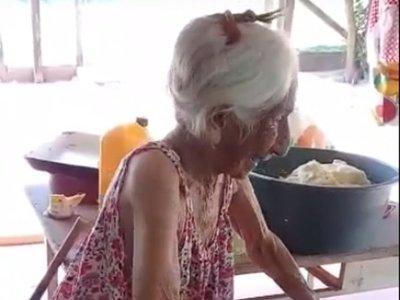 Ña Luchita, la abuelita de 105 años, que se hizo viral