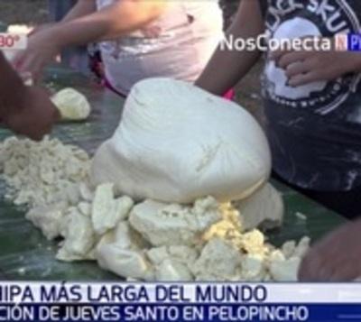 Pelopincho prepara chipa de 50 metros para ensayar un récord mundial