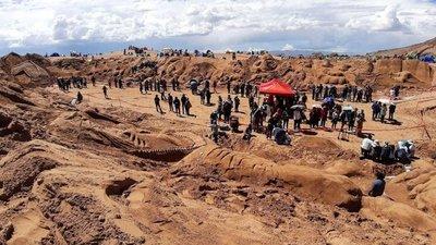 Esculturas en arena recrean un pasaje de la Biblia en Bolivia