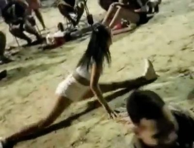 Virginia Jiménez desafió a un rapai con baile funky (Vídeos)