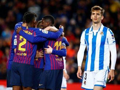 La solvencia sin brillo sitúa el Barcelona a dos suspiros del título