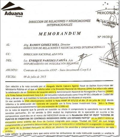 Puertos informó a Aduanas recién 6 meses después de concretar despojo
