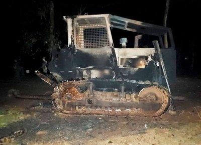 Ataque con quema de tractores en zona de influencia del EPP