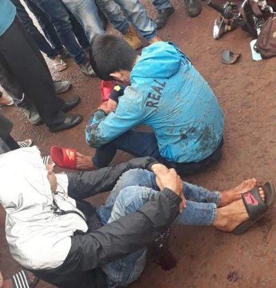 Tras persecución detienen a supuestos motochorros