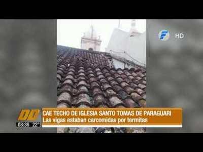 Cayó el techo de Iglesia Santo Tomás