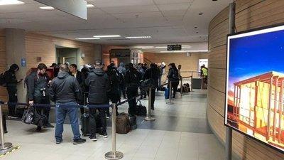 Olimpia, varado en el aeropuerto