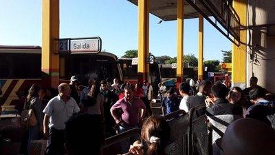 Más de 500.000 viajeros pasaron por la Terminal de Asunción