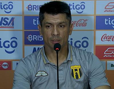 Gustavo Florentín lamentó el no haber podido cerrar el partido