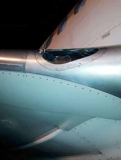 Aves impactaron contra un avión cuando aterrizaba