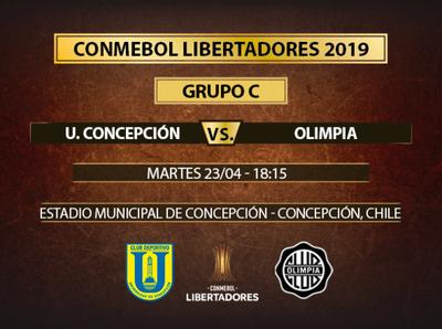 Olimpia va por el pase a octavos ante Universidad de Concepción