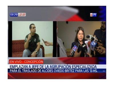 Piden trasladar sí o sí a Alcides Oviedo, líder del EPP