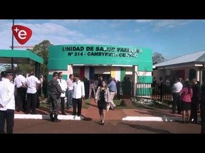 INAUGURAN MODERNO EDIFICIO PARA UNIDAD DE SALUD FAMILIAR EN CAMBYRETÁ