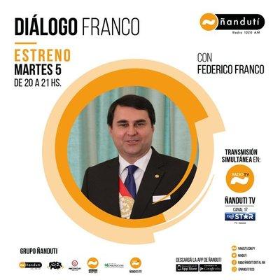 Diálogo Franco con la conducción de Federico Franco