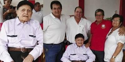 EXCOMBATIENTE CUMPLE 105 AÑOS EN CARMEN DEL PARANÁ