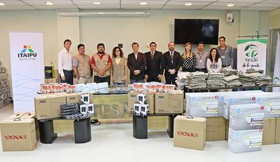 Itaipú y Tesãi entregan insumos a Senepa para la lucha contra el dengue