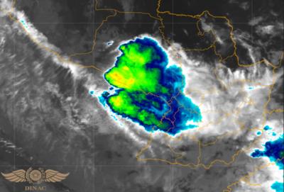 Tiempo inestable para bajo Chaco con probabilidad de tiempo severo y granizos
