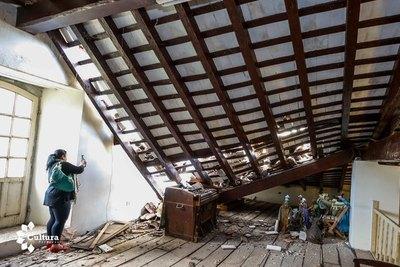 Técnicos de la SNC verifican daños en la iglesia de Paraguarí