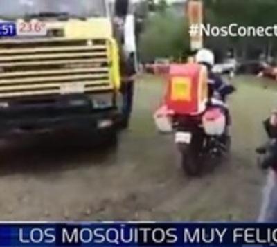 Inauguran motofumigadoras, pero mosquitos siguen felices