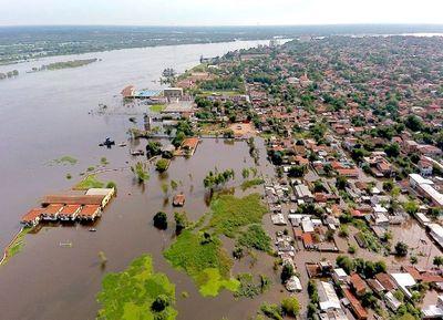 El descenso del río Paraguay se frena por las constantes lluvias