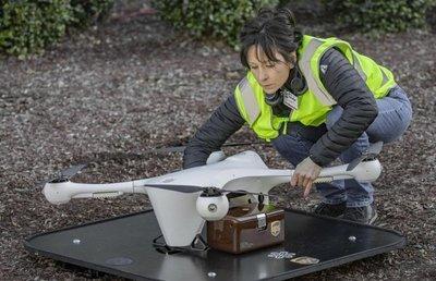 Drones para transportar muestras médicas