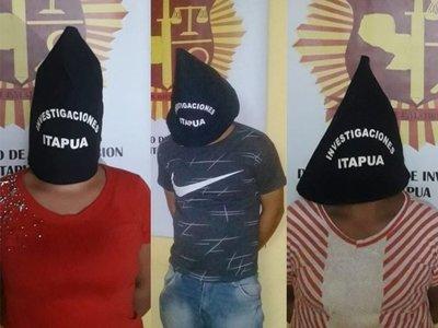 Desbaratan banda que perpetraba atracos a comercios en Itapúa
