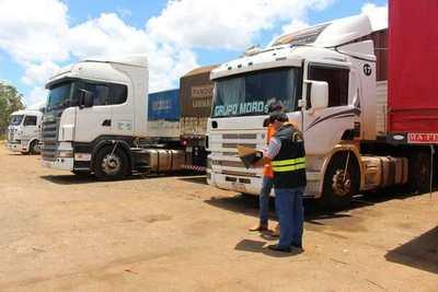 Ministerio de Trabajo iniciará controles de camiones de cargas en la vía pública
