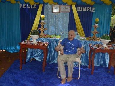 Ex combatiente cumplió 107 años y familiares reclaman mejor asistencia