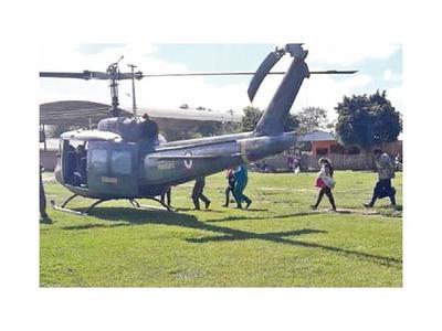Chaco: En helicóptero rescatan a un niño enfermo de colonia Ceibo