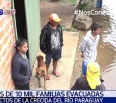 Más de 10.000 familias asuncenas fueron evacuadas por la crecida