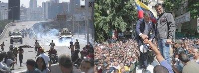 Venezolanos en las calles piden sacar a Maduro