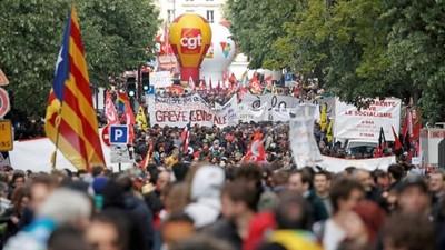 Enfrentamientos en la manifestación del 1 de Mayo en París