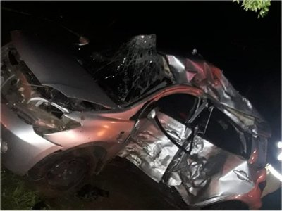 San Bernardino: Accidente de tránsito deja cuatro fallecidos y una mujer herida