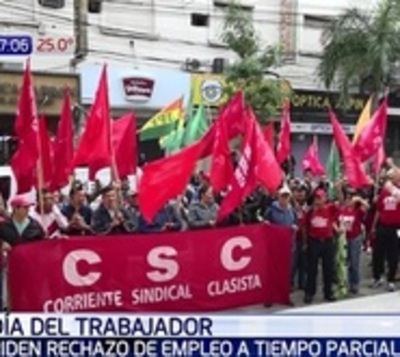Día del Trabajador con protestas: Rechazan empleo a tiempo parcial