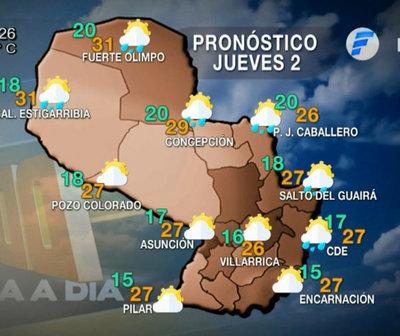 Hoy buen tiempo con temperatura en ascenso, mañana lluvias.
