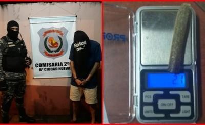 Joven detenido con marihuana por Lince